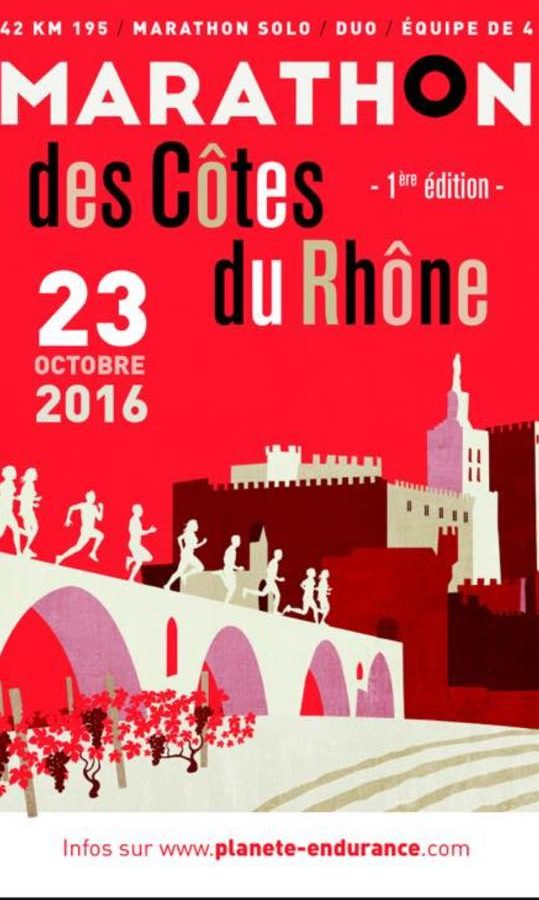 2nd edition du Marathon des Cotes du Rhône
